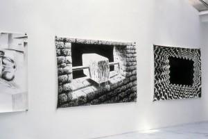 Andreas DOBLER: sans titre, 2004, encre de chine sur papier, 150 x 240 cm, « Cubic Sweat », 2002, encre de chine sur papier, 150 x 240 cm, « Memory Cave », 2002, encre de chine sur papier, 150 x 240 cm