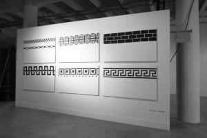 Vue du solo show à la Wall Artfair, Lyon, 2012