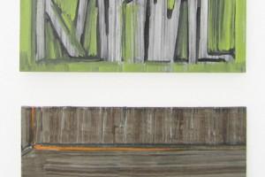 « Kapital / Morsure », 2010, huile sur toile – dyptique, 50 x 61 cm