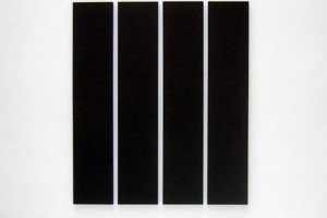 « 4 parts painting », 1993, acrylique sur toile, 202,5 x 40,5 cm – total 202,5 x 175,5 cm