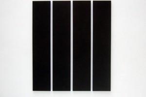 « 4 parts painting », 1993, acrylique sur toile, 202,5 x 40,5 cm – total 202,5 x 175,5 cm
