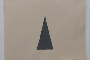 Triangle Painting – 2015, acrylique sur toile de coton, 37 x 45 cm – triangle: 9 x 18 cm cm