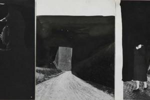 « pologne #2 », 2010, encre de chine sur papier imprimé – triptyque, 28 x 21,5 cm chacun