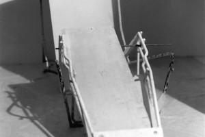 Sans titre – Série « Transats », 2002, Photographie noir et blanc, 24 x 24 cm