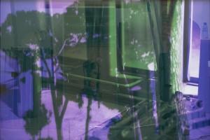 Sans titre #1 – Série « Superpositions », 2009, Jet d'encre sur papier et sur verre, 93 x 134 cm