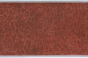 « Drawing #1 (Italy) », 2008, pastel sur papier, 122 x 244 cm