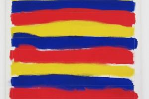 « À la main droite, en regardant en haut », 1984, peinture vinylique sur toile, 120 x 100 cm
