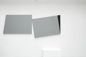 « Drift », 2006, laque sur toile, diptyque, 2 (100,5 x 150 cm)