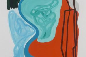« feuilles et cercles », 2011, gouache sur papier, 120 x 80 cm