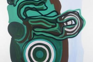 « entrelacs et disques rayés », 2012, gouache sur papier, 120 x 80 cm