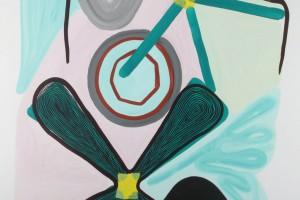 « objets », 2012, gouache sur papier, 120 x 80 cm
