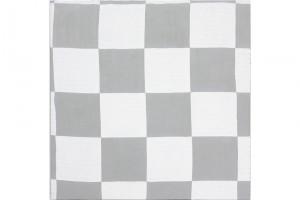 « Damier aluminium », 2008, acrylique sur tissu, 90 x 90 cm