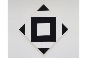 « Cible-losange », 2009 Acrylique sur tissu, 170 x 170 cm / 120 x 120 cm