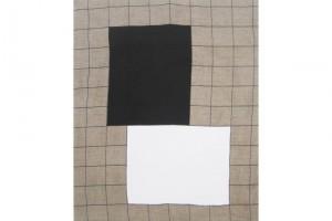 « Formes noire/blanche », 2010, acrylique sur tissu, 55 x 46 cm