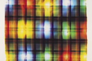 « écossais (vert) b, v, r, v », 2004, photogramme couleur, cibachrome, 105 x 82 cm