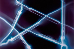 « règles filées, désordre #1 », 2007, photogramme couleur, cibachrome, 93 x 126 cm