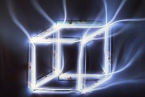 « règles filées, cube #1 », 2009, photogramme couleur, cibachrome, 91 x 109 cm