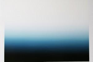 « étendues #0808 », 2008, acrylique sur toile, 118 x 90 x 2 cm