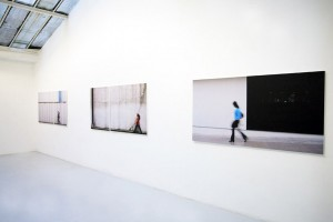 « Rémanence #02 », 2008, jet d'encre sur toile, 100 x 116 cm ; « Rémanence #01 », 2008, jet d'encre sur toile, 100 x 118,5 cm