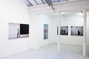 « Sans titre #23 », 2006, jet d'encre sur toile, 158,5 x 100 cm ; « Sans titre #01 », 2006, jet d'encre sur toile 100 x 124,5 cm ; « Sans titre #02 », 2006, jet d'encre sur toile, 100 x 122 cm