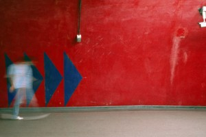 « sans titre #12 », 2006, jet d'encre sur toile, 100 x 208 cm
