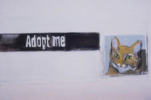 « Adopt Me », 2005, huile sur toile, 23 x 155 cm
