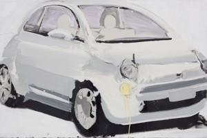 « Fiat », 2008, huile sur toile, 115 x 180 cm