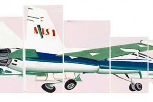 «Speed Nasa Jet », huile sur toile