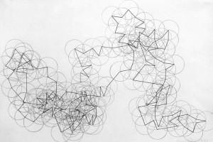 « Pi Cycle n°1 (1=20°) », 1998, crayon sur papier, 29,7 x 41,8 cm