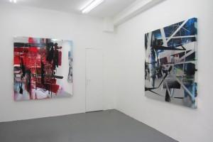 « pour voir 3711 » / « pour voir 3811 », 2011, acrylique sur PPMA, 155 x 151 cm