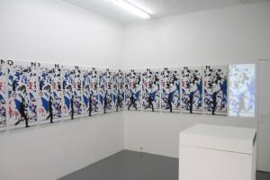 « Figure in Motion », 2008 – vue d'exposition, la vitrine c/ galerie Jean Brolly