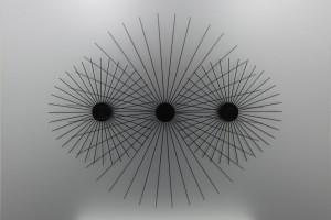 « mouvements circulaires », 1969/2012, couronnes de tiges métalliques, aluminium et moteur, 132 x 175 x 6 cm