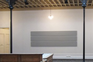 « 3 Horizontal Parts Paintings », 1998, acrylique sur toile, 117 x 360 cm