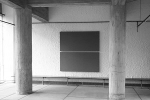 « 2 Horizontal Parts Painting », 1992, acrylique sur toile, 202,5 x 202,5 cm – Couvent de la Tourette, 2011