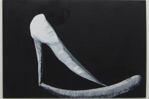 « les sculptures de ma mère #32 », 2008-10, huile sur toile, 89 x 130 cm