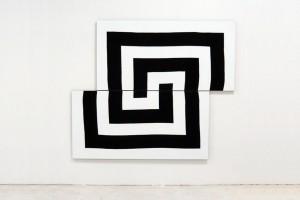 « Cible (décalée) », 2009, acrylique sur tissu, 180 x 230 cm