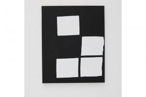 « Composition 4 figures blanches », 2009, acrylique sur tissu, 100 x 80 cm