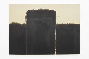 « Burnt Umber & Ultrmarine », 1991, huile sur toile, 65.5 x 90.5 cm