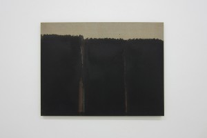 « Burnt Umber & Ultrmarine », 1992, huile sur toile, 65.5 x 80 cm