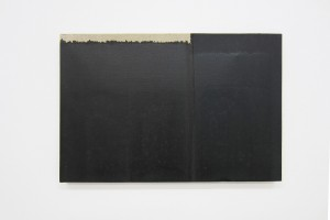 « Burnt Umber & Ultramarine », 1993, huile sur toile, 27 x 41cm