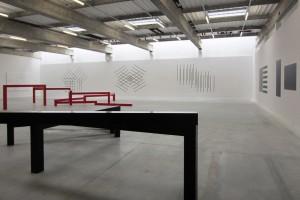 françois morellet – vue de l'exposition « 5x3 », le box/fonds m-arco – marseille, 2013