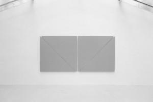 « diagonale painting in 4 parts », 2012, acrylique sur toile, 171 x 359,5 cm