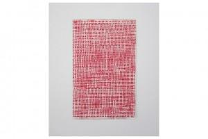 « 2940 POINTS », 2013, acrylique sur papier, 34,5 x 22 cm