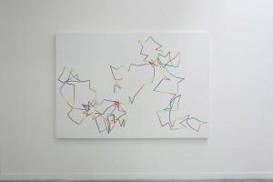 « Pi Rococo n°1 1=20° 200 décimale », 1998, acrylique sur bois, 200 x 295 cm