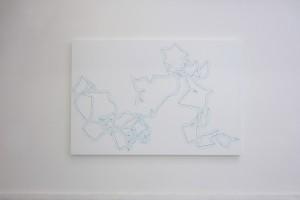« Pi Color n°10 1=20° 200 décimale », 1998, acrylique sur bois, 200 x 295 cm