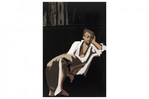 « RIP (Delacroix-Le Tasse) », 2013, huile sur toile, 300 x 200 cm