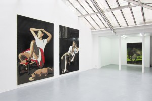 « RIP_Heim Ins Reich (Balthus) » – « RIP_Cold Earth (Delacroix) » – « RIP_Planet Rock (Destroy this mad brute) », 2012-2013, peinture acrylique et Enamel sur toile, 300 x 200 cm
