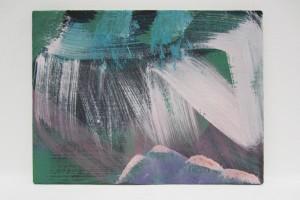 Sans titre (P2009#18), 2013, tempera à l'œuf, sur lin sur bois, 30 x 40 cm
