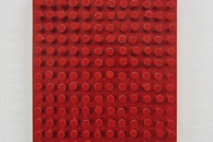 Tableau-clous – 1985-2011, laque sur clous sur bois, 25 x 18,4 cm