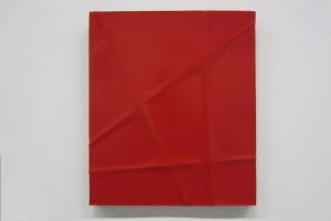 Monochrome rouge (fils de fer) – 2012, 35 x 30 cm